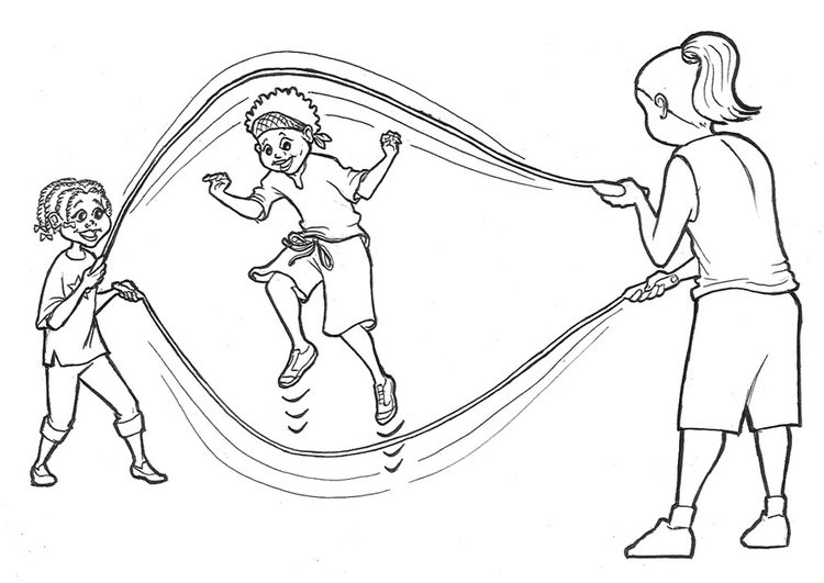 Coloring page jump rope