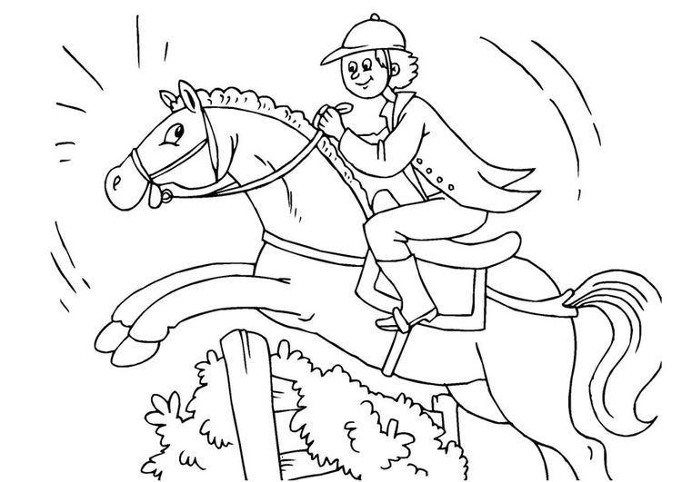 Coloring page jumping