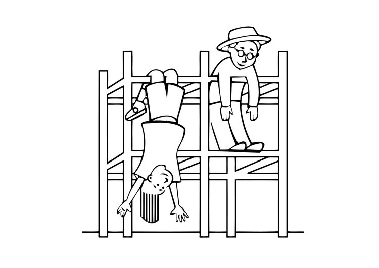 Coloring page jungle gym