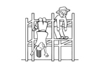 Coloring pages jungle gym