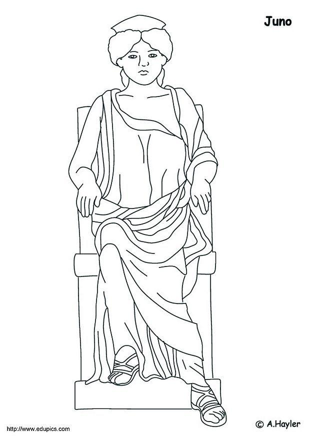 Coloring Page Juno - free printable coloring pages