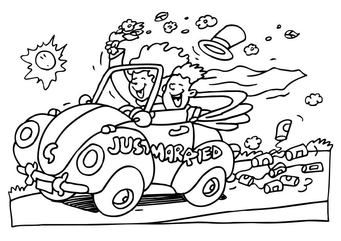Coloring page just married