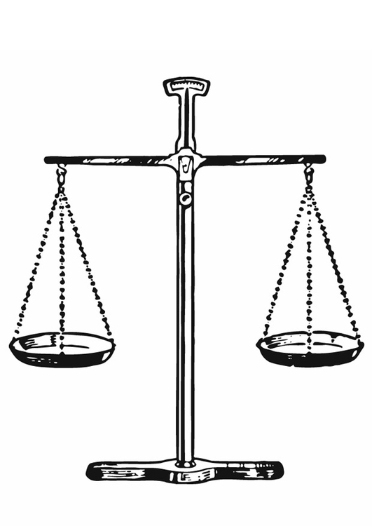 Coloring page justice - balans