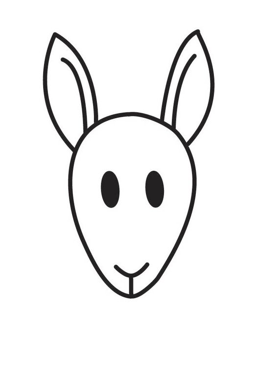 Coloring page Kangaroo Head