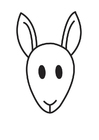 Coloring pages Kangaroo Head