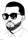 Coloring page Kanye West