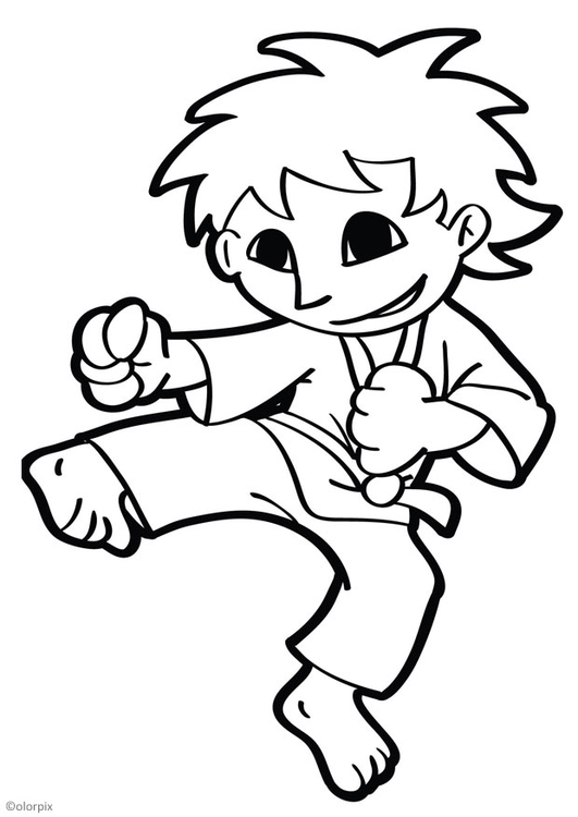 Coloring page karate img 26042