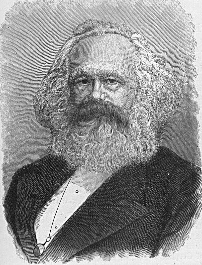 Coloring page Karl Marx