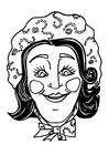 Coloring page Katrijn mask