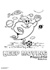 Coloring page keep moving