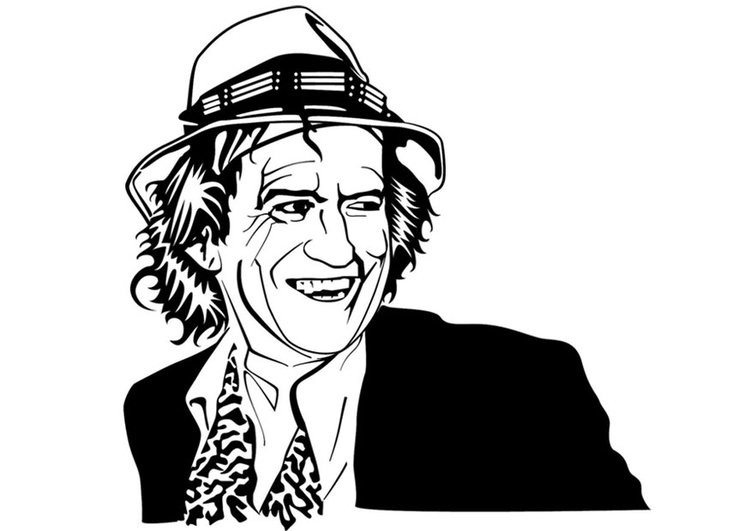 Coloring page Keith Richards