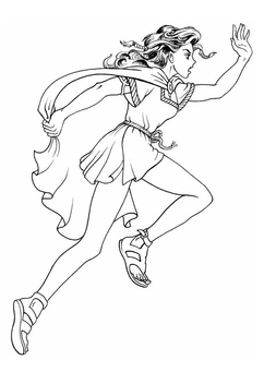 Coloring page keltic girl
