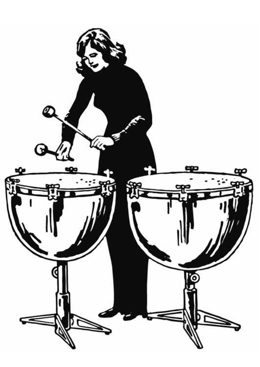 Coloring page kettledrum
