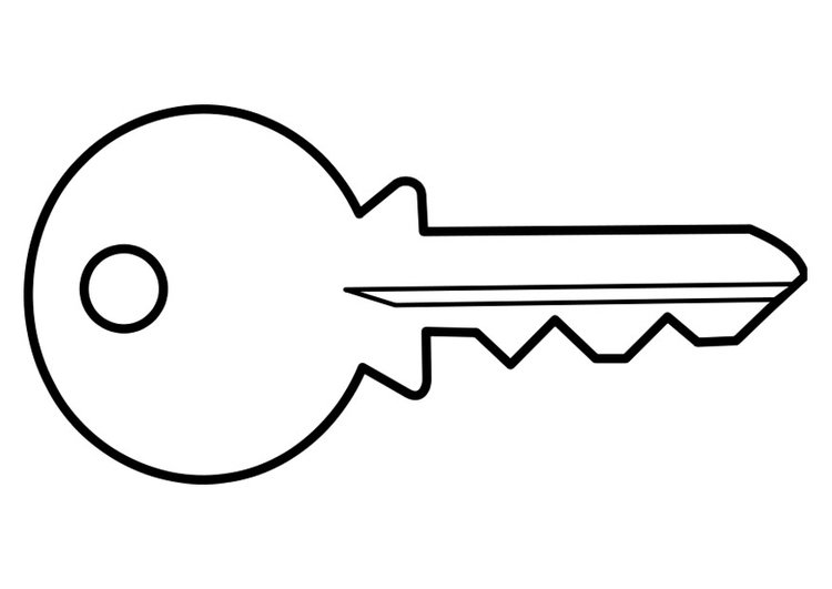 coloring page key - Key Coloring Page