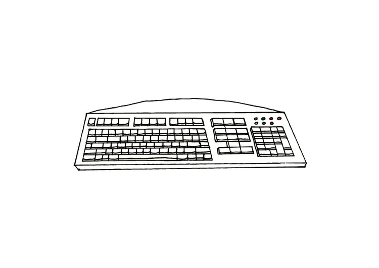 Coloring page keyboard