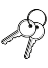 Coloring pages Keys