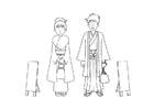 Coloring page kimono