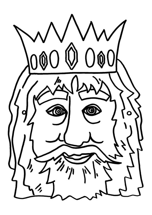 Coloring page king mask