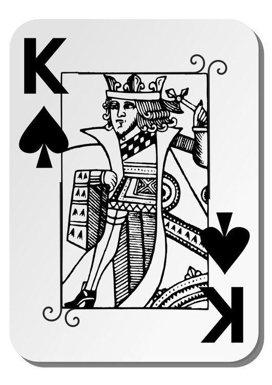 Coloring page King of Spades
