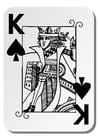 Coloring pages King of Spades