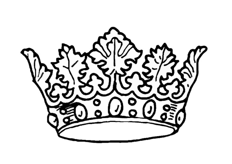 Coloring page King's crown