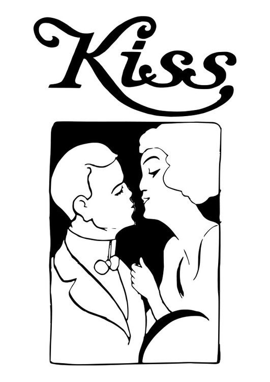 Coloring page kiss