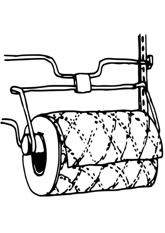 Coloring page kitchen roll