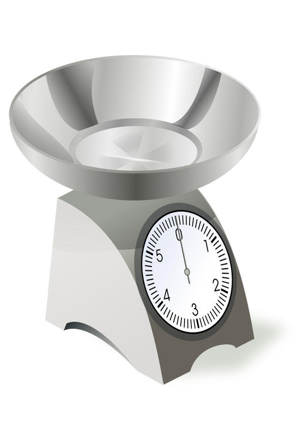 Coloring Page Kitchen Weighing Scales Img 22533 - Balance-scale-coloring-page