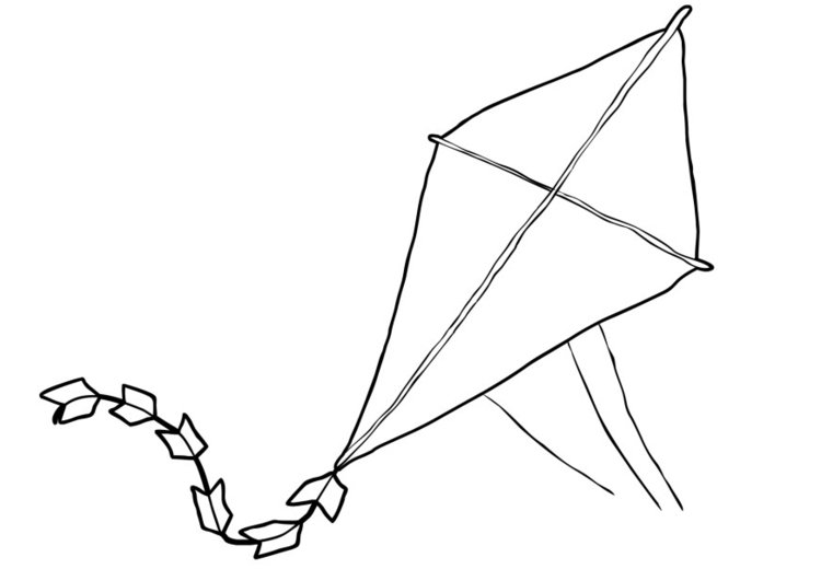 Coloring page kite