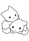 Coloring pages kittens