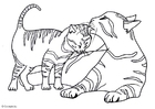 Coloring page kittens