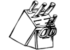 Coloring page knife block