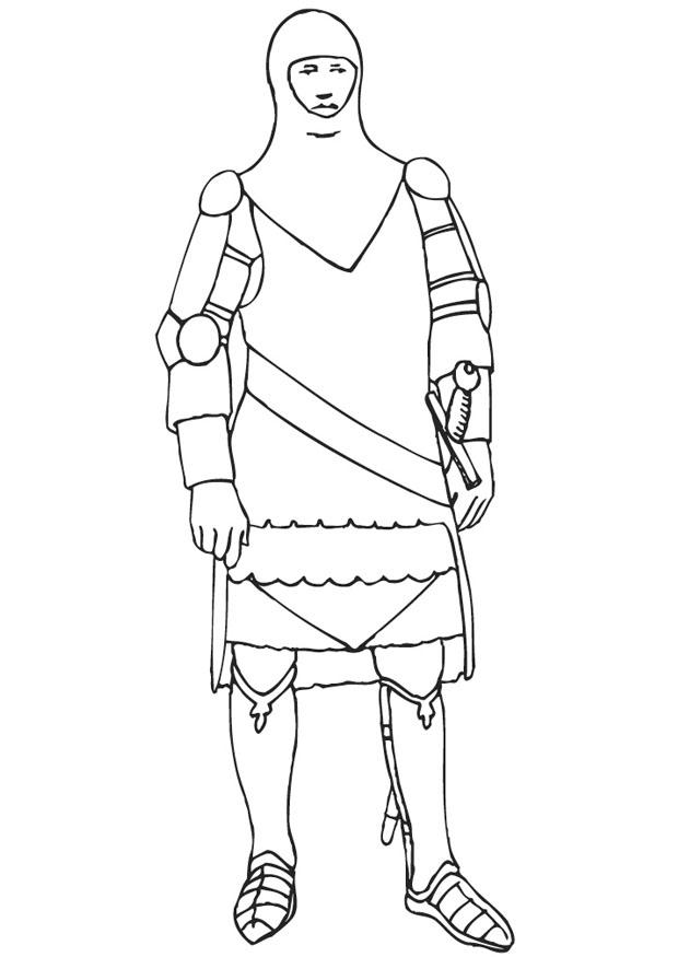 Coloring Page Knight In Armor Free Printable Coloring Pages