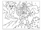 Coloring pages knight