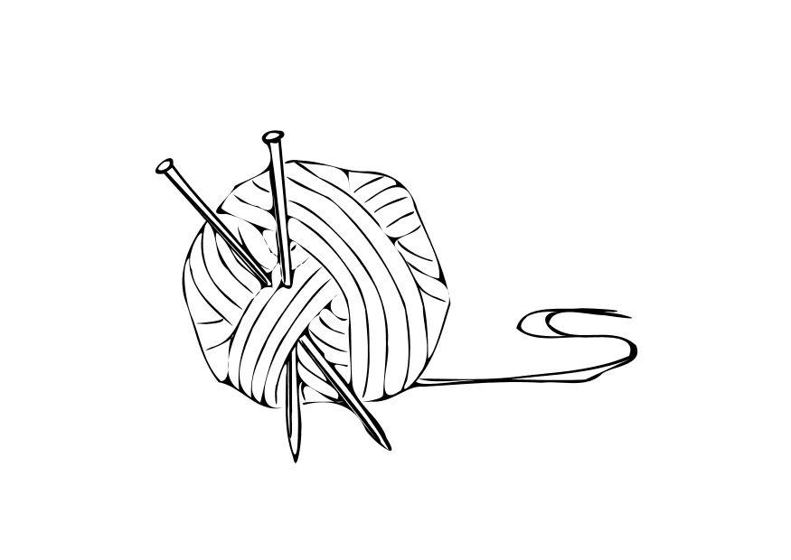 Ball Of Yarn Coloring Page  Free Online Coloring Pages