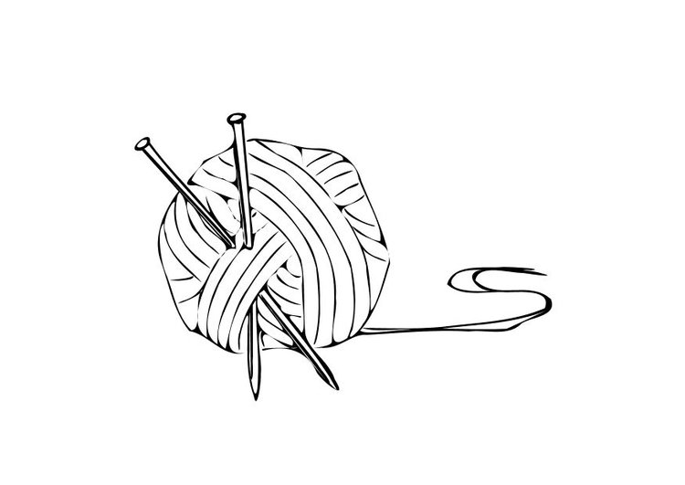 Coloring page knitting