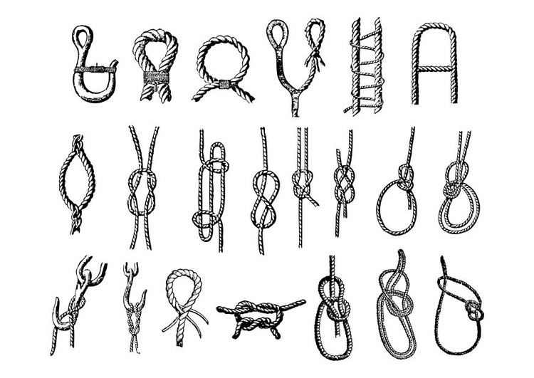 Coloring page knots