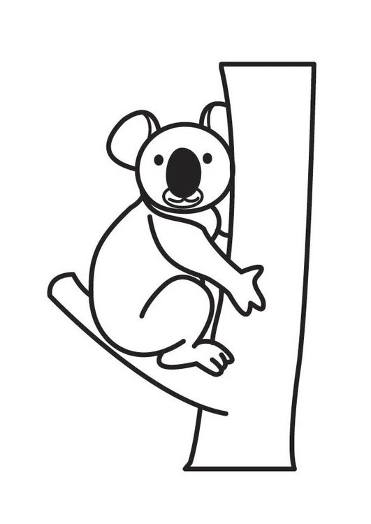 Koala #67 (Animals) – Printable coloring pages | 750x531
