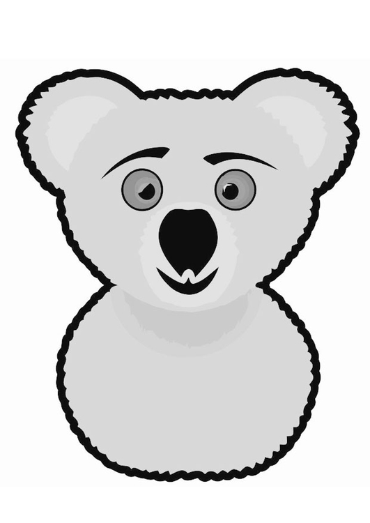 Free Koala Bear Pictures To Color, Download Free Clip Art, Free ... | 750x531