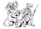 Coloring pages Kobold