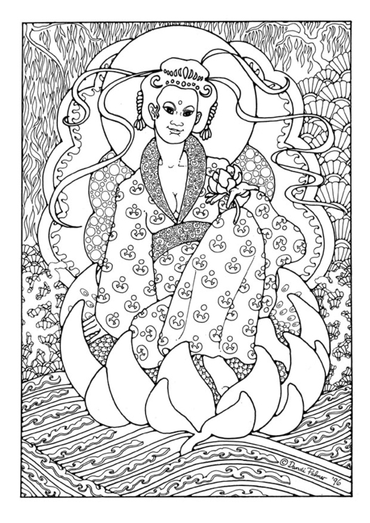 Coloring page KuanYin