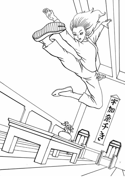 Coloring page kung fu