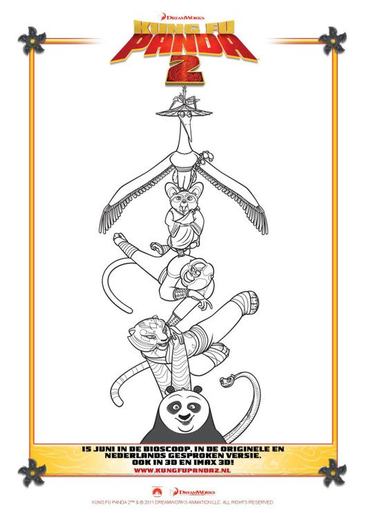 Coloring page Kung Fu Panda 2 - img 22409.