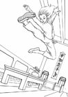 Coloring pages Kung Fu