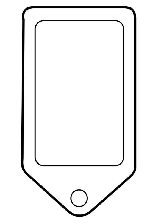 Kleurplaat Mobiele Telefoon Coloring Page Label Img 22487