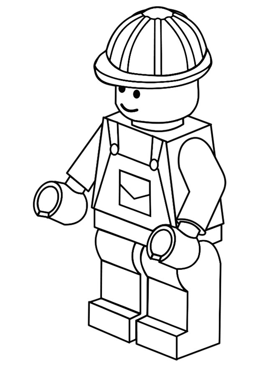 Coloring page labourer
