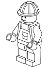 Coloring pages labourer