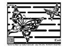 Coloring page labyrinth - butterfly