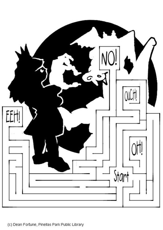 Coloring page labyrinth