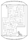 Coloring pages labyrinth